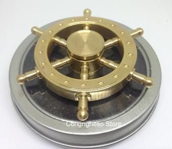 Con quay Spinner bằng đồng nguyên chất hình vô lăng tàu ( quay lâu)