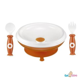 Bộ tập ăn dặm Simba - chén giữ nhiệt đế cao su, muỗng, nĩa