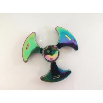 Con quay Spinner 3 cánh vòng tròn 7 màu bằng đồng