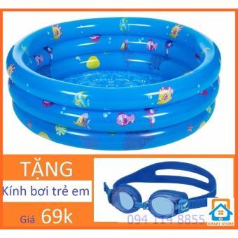 Bể bơi tròn 3 tầng tặng kính bơi cho trẻ Smart Store