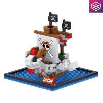 Mô hình lắp ráp Mini Block 650 Tàu One Piece Going Merry