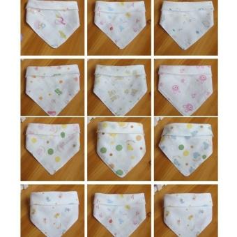 Bộ 5 khăn xô tam giác có cúc bấm 30x43cm