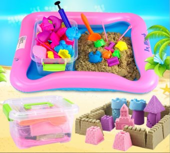 Bộ đồ chơi cát nặn vi sinh 5+ BenHome kích thích sáng tạo cho bé (Hồng)