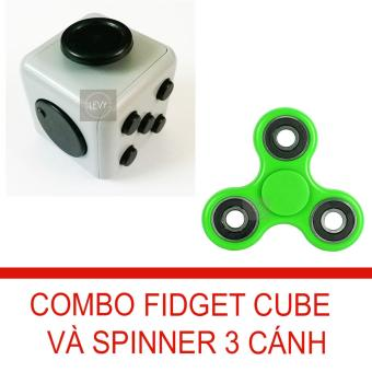 Combo Fidget Cube và con quay 3 cánh