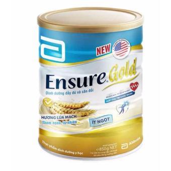 Sữa Ensure Gold hương lúa mạch ít ngọt 850g