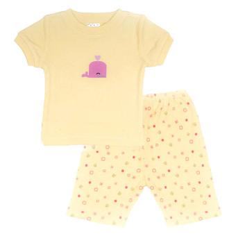 Bộ quần áo mặc nhà bé gái Lullabybaby (Vàng)