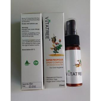 Chai Xịt Keo Mật Ong Vitatree Super Propolis With Manuka Honey 15+ 25ml Úc(Honey)