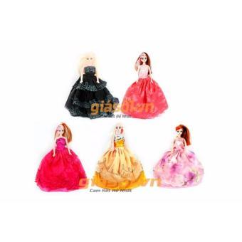 Bộ 5 đồ chơi búp bê Babrie cho bé (Nhiều màu)