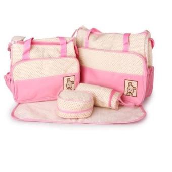 Túi đựng đồ cho mẹ và bé 5 chi tiết (Hồng)