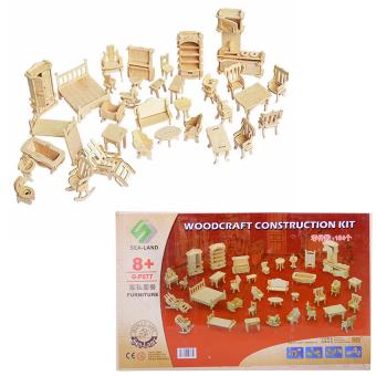 Bộ đồ chơi ghép hình 3D bằng gỗ 184 chi tiết