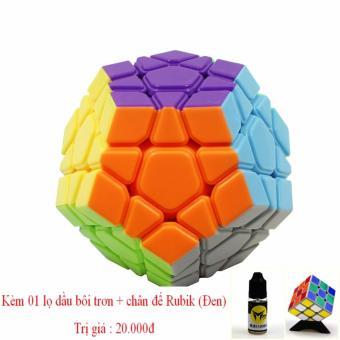 Đồ chơi phát triển kỹ năng Rubik' Cube 12 mặt YONGJUN tặng kèm dầu bôi trơn + kệ đỡ