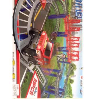 Bộ lắp ráp đường đua ô tô 93 chi tiết (Nhiều màu)