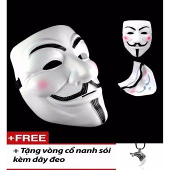 Bộ 5 Mặt nạ Hacker Anonymous s100 Tặng vòng cổ nam bọc nanh sói
