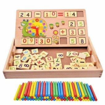 Bảng gỗ 2 mặt ghép nam châm kích thích bé học toán