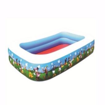 Hỗ bơi bơm hơi trẻ em 2 tầng 1,2m mầu xanh