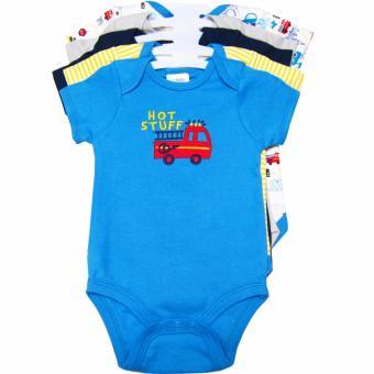 Bộ 5 áo liền quần bé trai từ sơ sinh đến 6 tháng tuổi BG (Nhiều màu sắc)