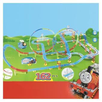 Bộ đồ chơi đường ray trượt xe lửa có nhạc có đèn cho bé cỡ lớn