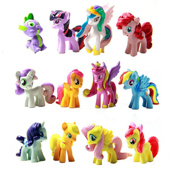Fancyqube My Little Pony Doll Toy Color Figure