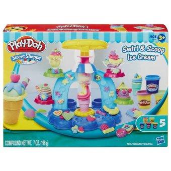Bộ đồ chơi bột nặn Play Doh máy làm kem cầu vồng