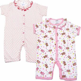 Mua Bộ 2 áo liền quần đùi bé gái Baby Gear (Mẫu chấm bi và gấu) giá tốt nhất