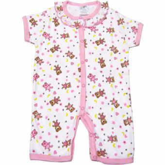 Bộ 2 áo liền quần đùi bé gái Baby Gear (Mẫu chấm bi và gấu)