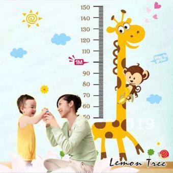 Decal dán tường đo chiều cao hình thú cho bé giá tốt