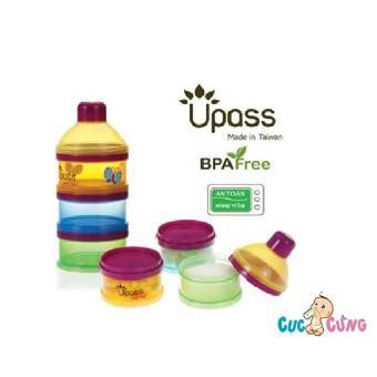 Hộp đựng sữa bột 3 ngăn UPASS có vách ngăn - UP8011C