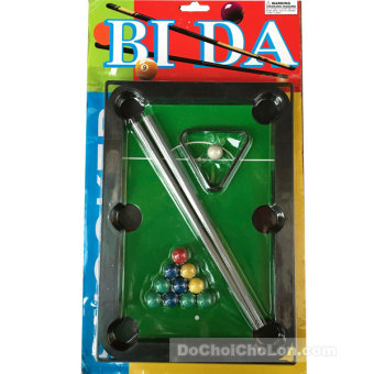 Vỉ đồ chơi bàn Bi Da lỗ mini Billiards Snooker