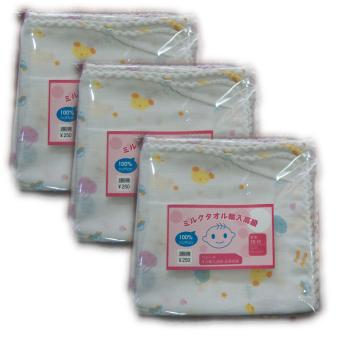 Bộ 3 túi khăn sữa 2 lớp xuất Nhật (32x32cm)
