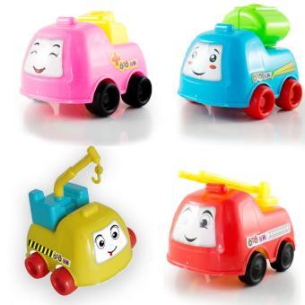Bộ 4 Ô tô nhí - Xe cứu hỏa, xe bồn, xe cẩu, xe cứu thương