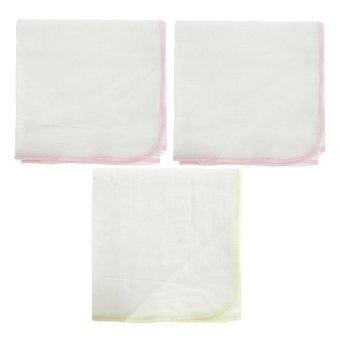 Bộ 3 khăn tắm gạc 2 Lớp 85x85Cm Nanio A0193