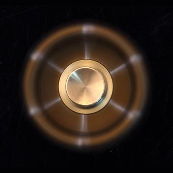Con Quay 6 cánh bằng kim loại đồng có thể tháo dời Fidget Spinner không ma sát xả stress