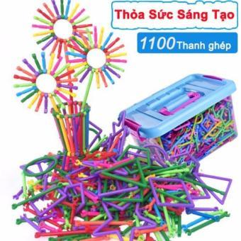 Bộ lắp ghép đồ chơi sáng tạo (1100 Thanh ghép)