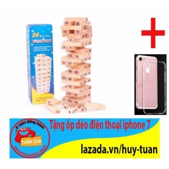 Trò chơi rút gỗ 54 thanh mini X-1 + Free ốp dẻo trong suốt iphone 7