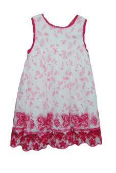 Áo váy lanh Verbaudet gấu ren