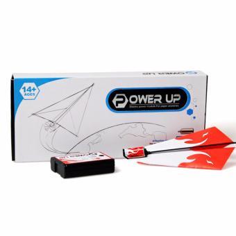 Bộ máy bay gập giấy có gắn động cơ Power Up 2.0 (Đỏ)