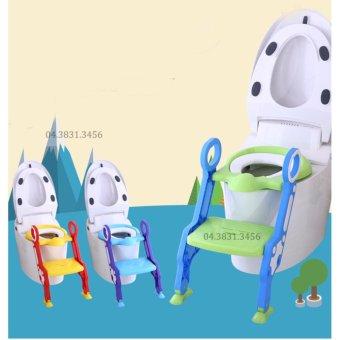 Thang ghế ngồi toilet cho bé AD-8808 (Xanh lá)