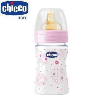 Bình sữa Wellbeing núm cao su Hoa hồng 150ml