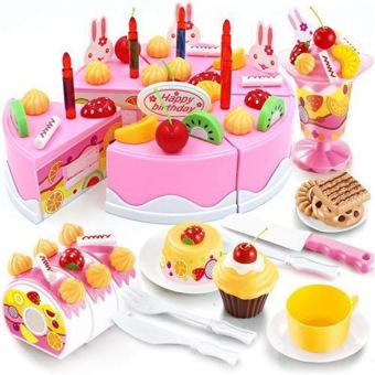 Bộ đồ chơi làm bánh sinh nhật (Hồng)