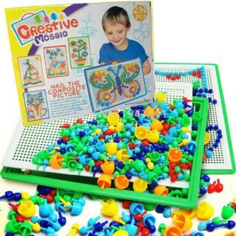 bộ đồ chơi giúp bé phát triến trí óc 296 hạt hình nấm