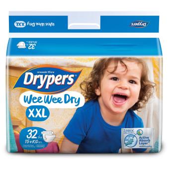 Tã dán Drypers Wee Wee Dry XXL 32