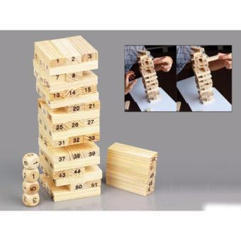 Trò chơi trí tuệ rút gỗ 54 thanh kèm 4 xúc xắc