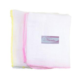 Bộ 2 bịch khăn tắm gạc 4 lớp (70x75) Nanio A0037
