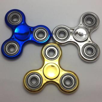 Đồ Chơi Con Quay Giúp Xả Stress Fidget Spinner Kim Loai (Màu Vàng) + Tặng Dầu Bôi Trơn Fidget Spinner Oil