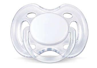 Ty ngậm Silicone cho bé từ 0-6 tháng tuổi (Trắng)