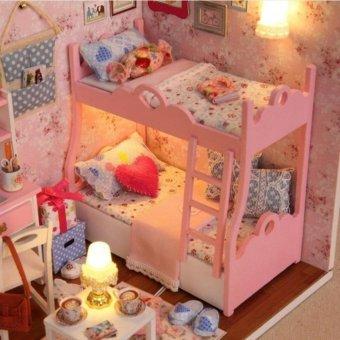 Bộ đồ chơi mô hình nhà gỗ căn phòng bé gái cho bé sáng tạo