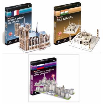 Bộ 3 đồ chơi xếp hình 3D Puzzle