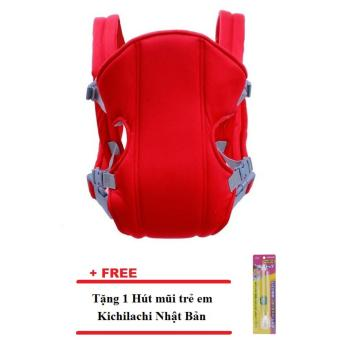 Địu em bé 4 tư thế (Đỏ) + Tặng 1 Hút mũi trẻ em Kichilachi Nhật Bản