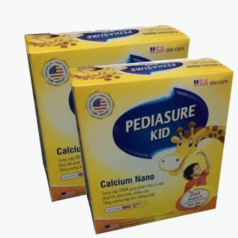 Bộ 2 hộp Pediasure Kid Calcium Nano hỗ trợ phát triển chiều cao hộp 20 ống x 10ml