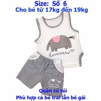 Quần áo trẻ em Bộ Voi CityKids BTE028 (Màu xám)